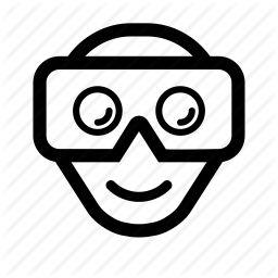 ar, cardboard, head, headset, reality, virtual, vr icon