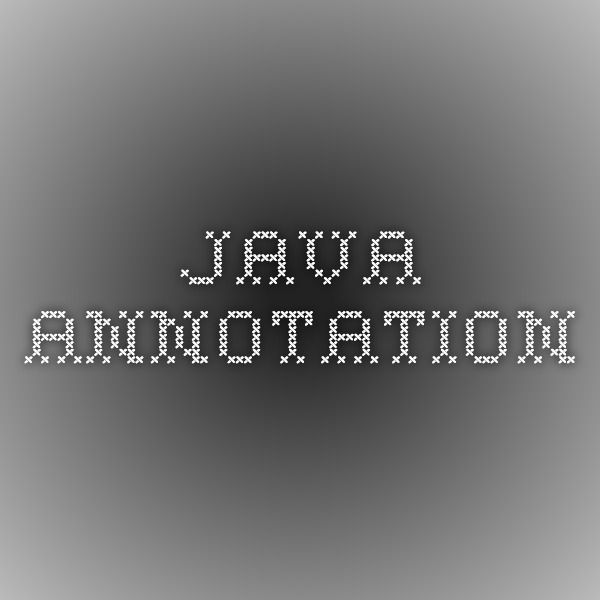Java annotation