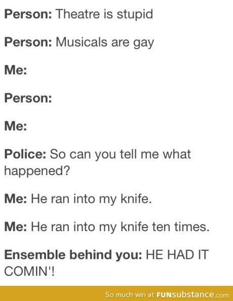I LOVE THE MUSICAL IT REFERENCES!!!