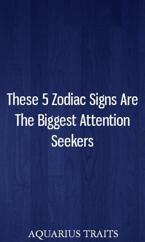 Signs of attention seekers