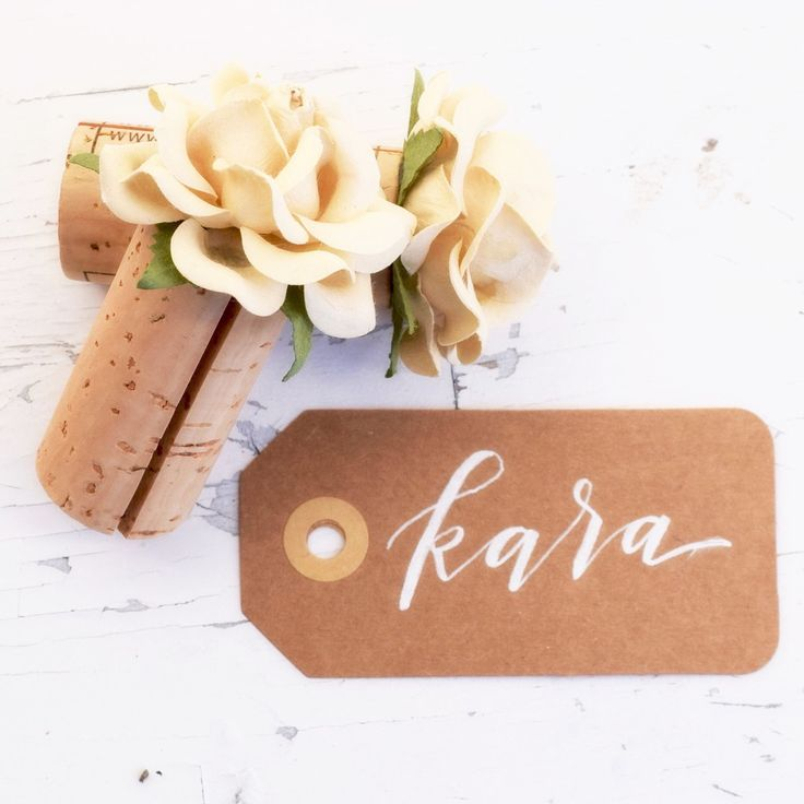 single wine cork place card holder