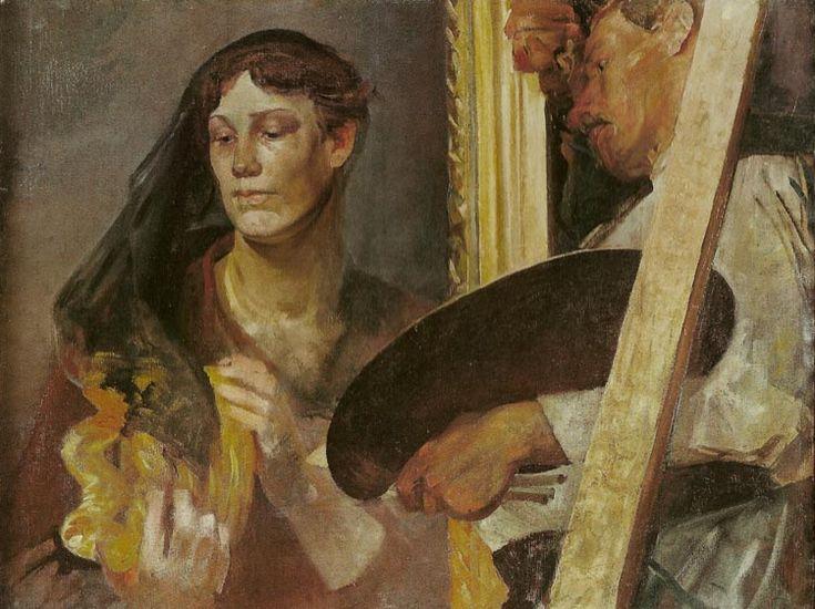 Jacek Malczewski - In Front of the Model