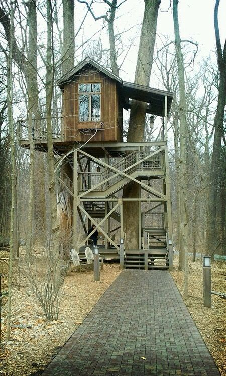 278 best images about treehouses on pinterest trees a for Treeless treehouse
