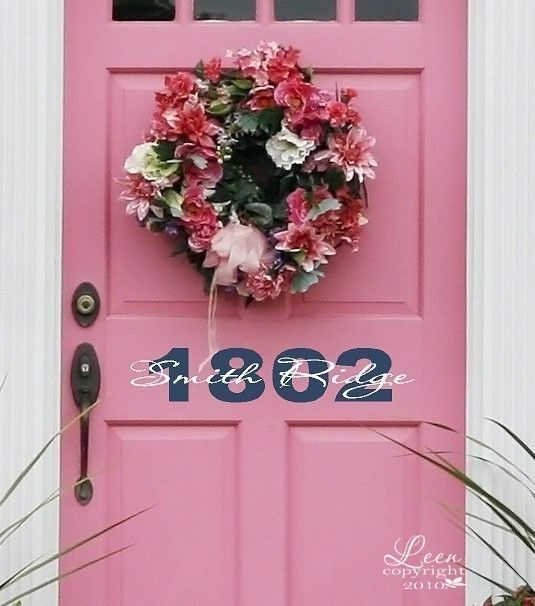 Door Decal  Front Door Vinyl Lettering by LeenTheGraphicsQueen, $15.00