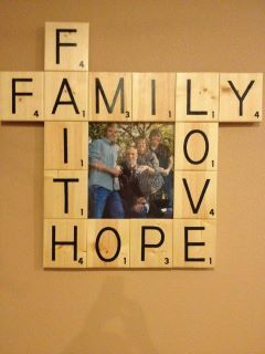 Scrabble Letter wall hanging that I decided to add a picture to.
