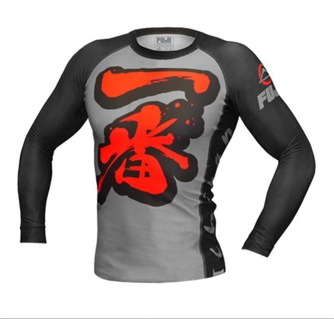 Tatami Rash Guard Classic Long Sleeve Black BJJ No-Gi Jiu Jitsu MMA Compression