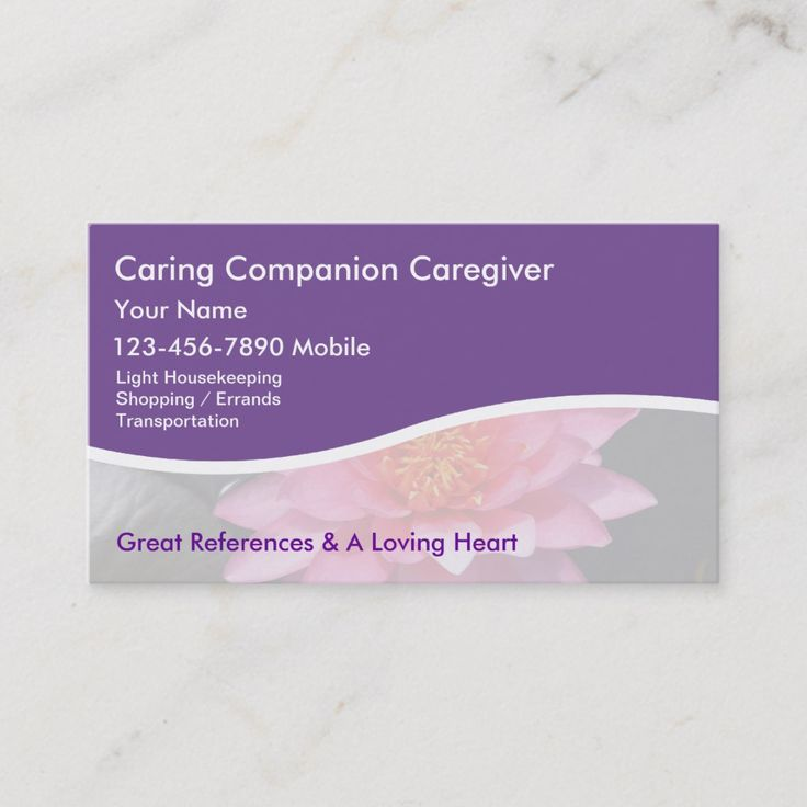 Caregiver Business Cards Zazzle Com In 2021 Medical Business Caregiver Cards