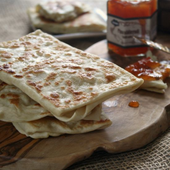 how to make naan bread no yeast