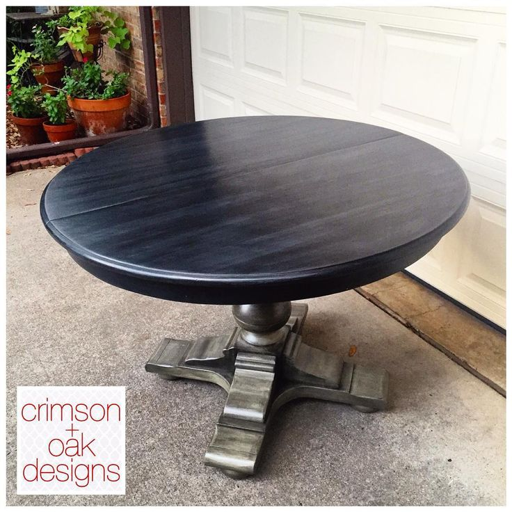 Custom-painted kitchen table by melinda: crimson + oak designs using Annie Sloan Chalk Paint and General Finishes Glaze Effects. For more info on colors and process see Instagram with details.