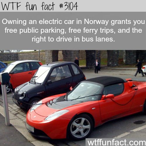 Owning an electric car in Norway - WTF fun facts