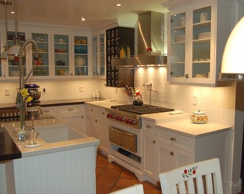 white kitchen cabinets and terracotta floor gray quartz caesarstone nougat counters country 28675
