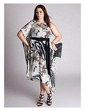 Luxurious and lightweight, this beautiful floral print scarf dress embraces the relaxed spirit of summer. With its elasticized neckline and kimono-style sleeves, this dress can be worn a variety of ways  - as a tube, off both shoulders or one. Pair it with bold platform heels for a haute social engagement, then kick off the high heels and add a strappy flat or gladiator sandal for effortless daytime chic. sonsi.com