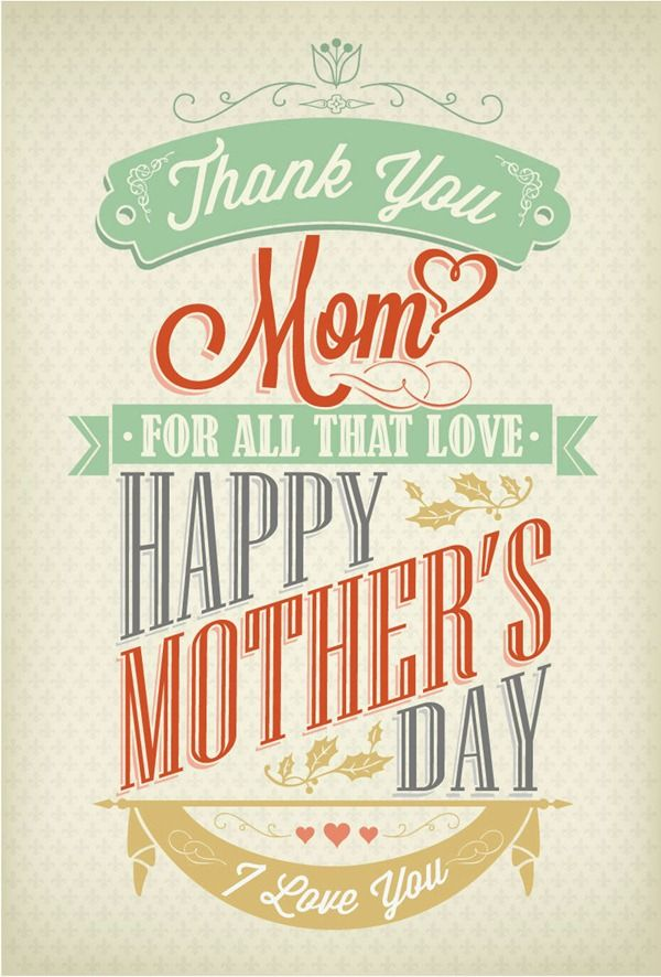 Creative Mother's Day posters vector graphics