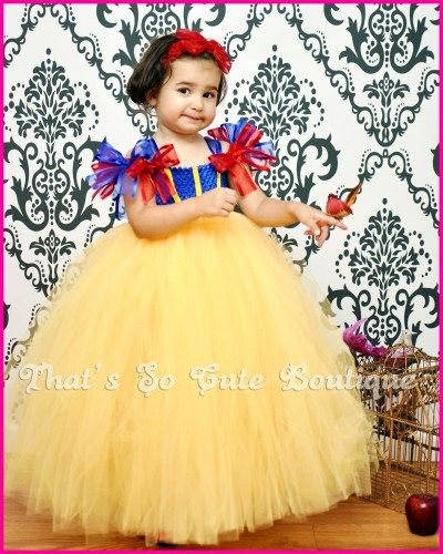 Snow White Inspired Tutu Dress, Snow White Costume, Disney Princess Dress