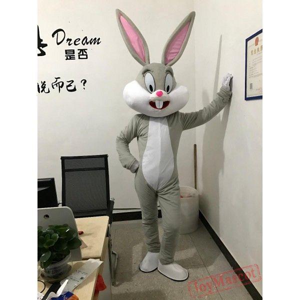 Bugs Bunny Rabbit Mascot Costume Cartoon Character Adult Suit Fancy Dress Parade