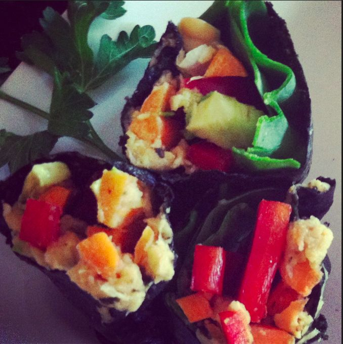 Nori Vegetable Wrap: Plant-Based Sushi! Healthy and great for you! ***5 MINUTE RECIPE!