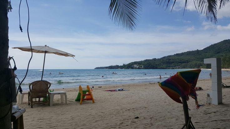 Lunch at Kamala Beach where restaurants really are on the beach