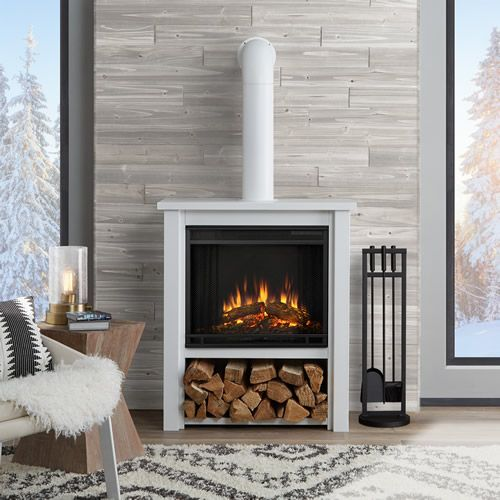Real Flame Hollis Electric Fireplace White 5005e W In 2019