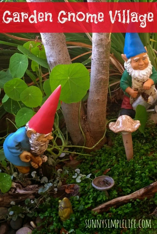 a tour of our little gnome garden village