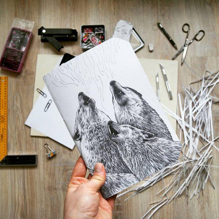 by @kcrm_crafts >>https://www.etsy.com/shop/KCRMcrafts<<  #giveaway #gift #notebook #jotter #sketchbook #oryginal #illustration #art #sketch #doodle #drawing #howlingwolf #howling #wolf #wildlife #nature #naturelove #pencil #fauna #kcrmcrafts #podlasie #poland #polska #ilustracja #rysunek #szkic #natura #journal #prezent