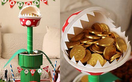 マリオ/MARIO お菓子が入るパックンフラワーの2段トレー