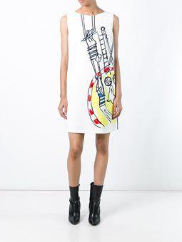 doodle print shift dress
