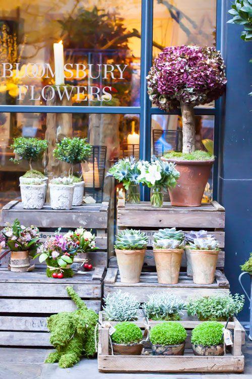 Florist Bloomsbury Flowers' new shop in Ham Yard Village, London.