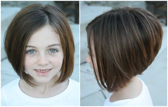 cute little girl cut...thinking about getting Hailee's cut like this.