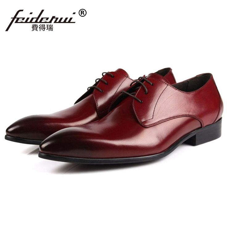>> Click to Buy << Fashion Pointed Toe Man Formal Wedding Dress Shoes Luxury Brand Genuine Leather Male Oxfords Italian Men's Bridal Flats LF97 #Affiliate