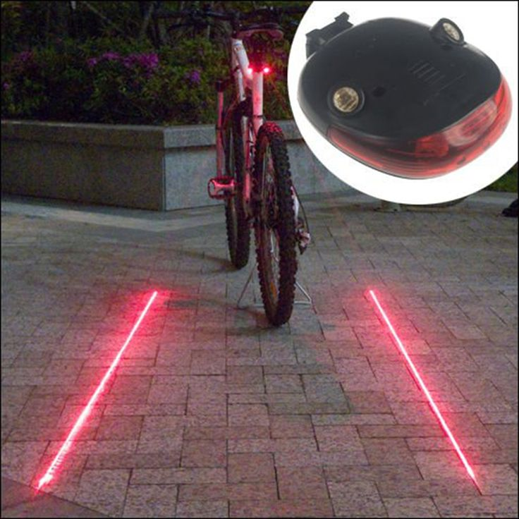 2016 Bike Rear Light Cool Waterproof Bicycle Rear Light with 7 Flash Mode  Bicycle Accessories (5LED+2Laser)