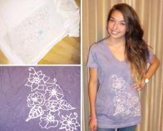 DIY Tutorial: DIY Tie Dye / DIY Fashion: Inverted Dye T-Shirt - Bead&Cord