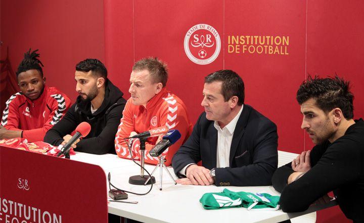 Lass Bangoura, Abdelhamid El Kaoutari; Olivier Guégan, Didier Perrin, Johann Carrasso
