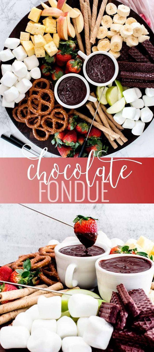 Chocolate Fondue Oh So Delicioso Dessert Rezepte Einfach Raclette Ideen Nachtisch Essen