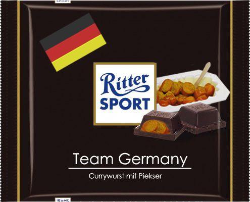 RITTER SPORT Fake Schokolade Team Germany