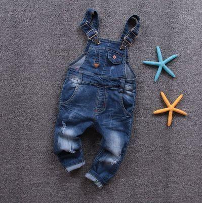86016 новорожденных мальчиков Ночные бобы мягкие джинсовые комбинезоны брюки весна модели маленьких мальчиков и ребенка