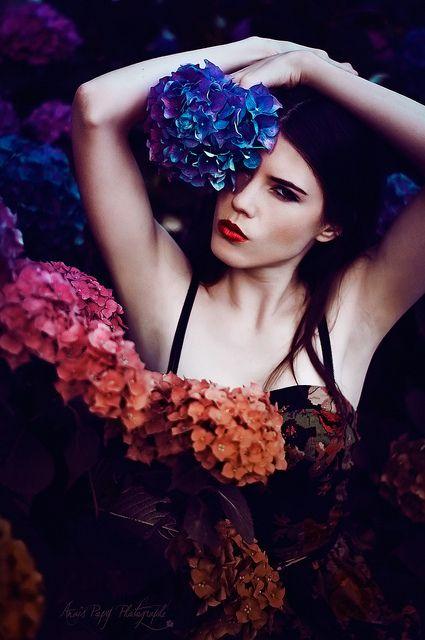 ❀ Flower Maiden Fantasy ❀ beautiful art fashion photography of women and flowers - Hydrangea