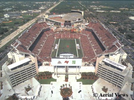 Raymond James Stadium - home of the Tampa Bay Bucs