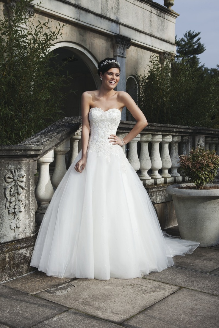 romantische tulle bruidsjurk