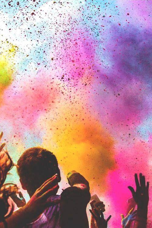 Holi, a sky full of colors
