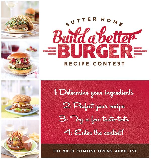 145 best build a better burger images on pinterest burger recipes 2013 build a better burger contest is now open enter your recipe for a chance to win forumfinder Choice Image
