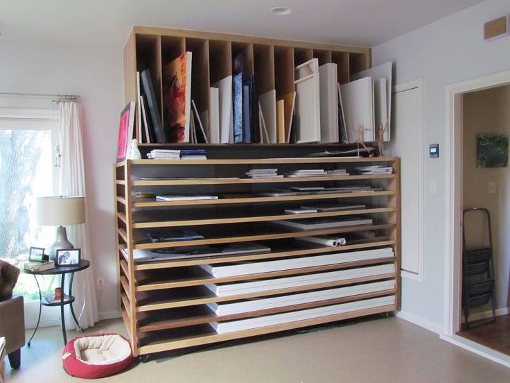 Great Design For Storing Canvas Papers And Boards Art Studio Storageart