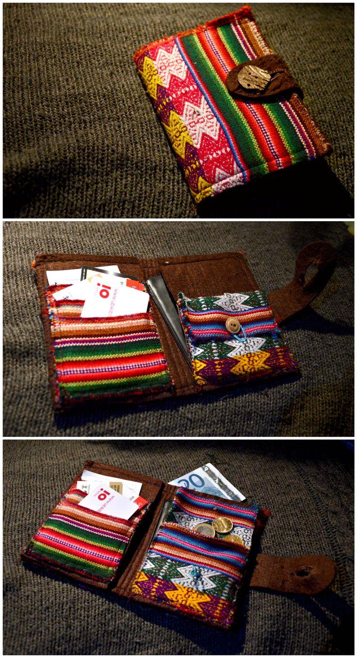 portafoglio etnico feltro e stoffa  / ethnic wallet