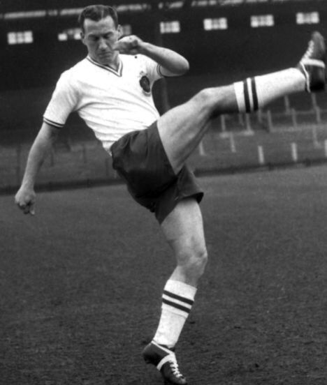 Nat Lofthouse of Bolton Wanderers in 1958.