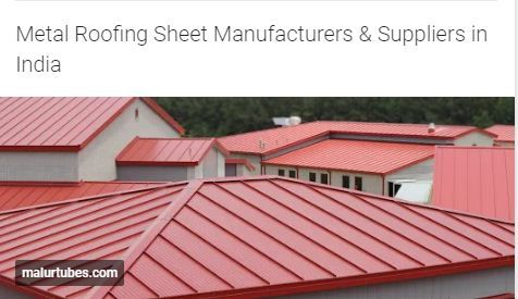 We Are The Prominent Manufacturers And Suppliers Of Metal Roofing Sheets In India Sheet Metal Roofing Roofing Sheets Steel Roofing Sheets