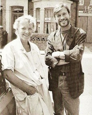 Julia Smith and Tony Holland, creators of EastEnders. 80s Actual