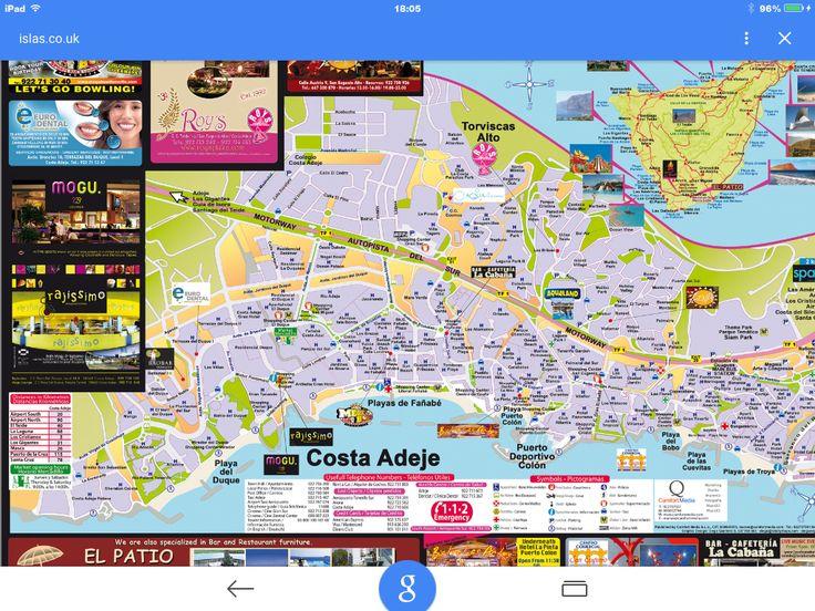 Street Map Of Hotels In Costa Adeje