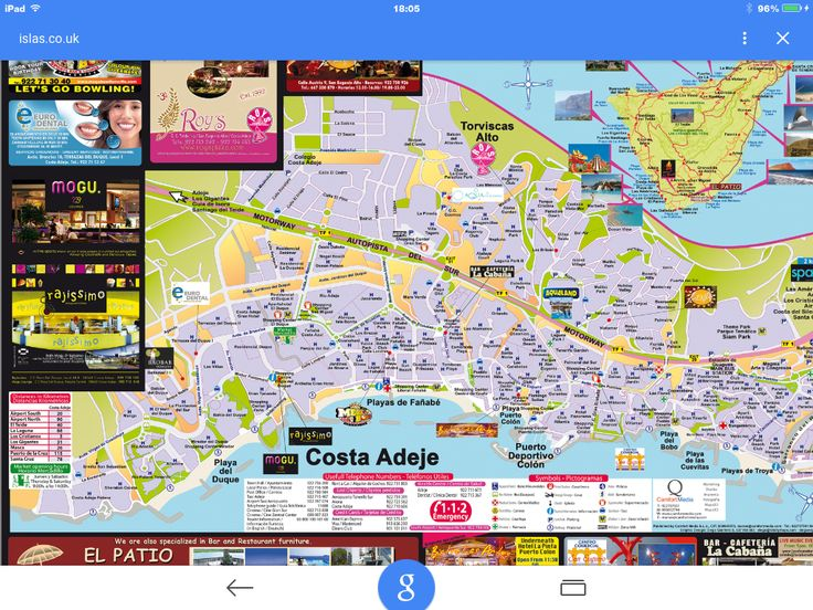 Permalink to Street Map Of Hotels In Costa Adeje