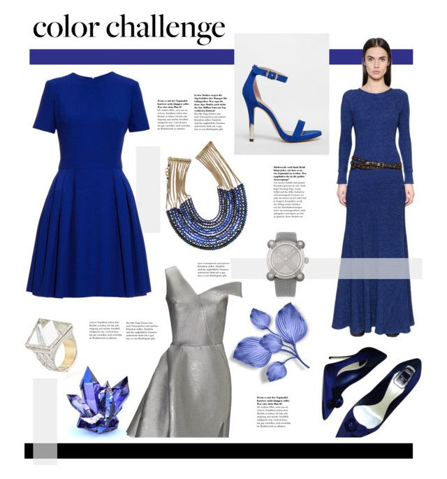 """""""Royal Blue and Silver"""" by hellodollface ❤ liked on Polyvore featuring Maticevski, Polo Ralph Lauren, Rosantica, IZNAV ORUAM, Christian Dior, Romain Jerome, Alexander McQueen, Call it SPRING, Blue and colorchallenge"""