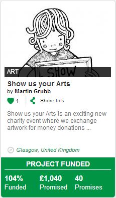 Thanks to Bloom backers, this cool charity art event can now help raise awareness of mental health. http://bloomvc.com/project/Show-us-your-Arts-charity-exhibition