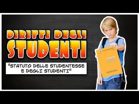 """""""Statuto delle Studentesse e degli Studenti"""" - LEGGETE LA DESCRIZIONE - YouTube"""